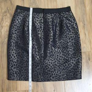Ann Taylor Skirts - Ann Taylor Black Leopard Print Skirt